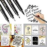 Gaddrt 4pcs pennarelli a inchiostro calligrafia mano Lettering penne disegno Great for Art Marker
