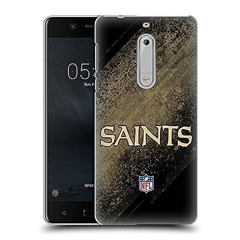 Officiel NFL Tache New Orleans Saints Logo Étui Coque D'Arrière Rigide Pour Nokia 5