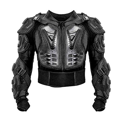 METTE Motorrad-Schutzjacke, Sport Motocross MTB Racing Body Armor Protector Rückenschutz Anti-Fall-Atmungsaktive Jacke, Ritter Spezialschutzausrüstung, Schwarz