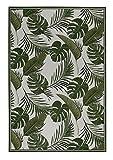 Luxor Living Design Teppich mit Blätter-Print | In- & Outdoor | Dschungel Style, Größe:123 x 180 cm, Farbe:Grün Labuka