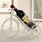 Queta Roman Bike Form Weinregalen Home Dekoration Rot Wein Flasche Halter Eisen Wein Regal Party Hochzeit Wein Halter Weiß