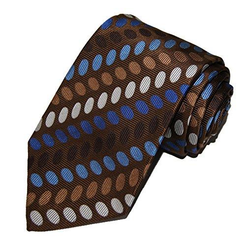 turnbull-asser-mens-100-jacquard-silk-neck-tie-necktie-ovals-brown-blue-white