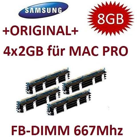 Mihatsch Diewald/Samsung 8 GB (4 x 2 GB) DDR2 PC2-5300F 667 mhz CL5 ECC Fully (Samsung Buffered Memoria)