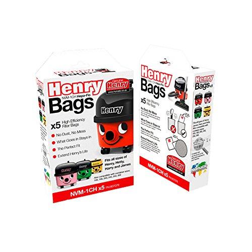 Henry NVM-1CH Staubfilterbeutel 5 Stück weiß - Hepa-staubsauger, Taschen