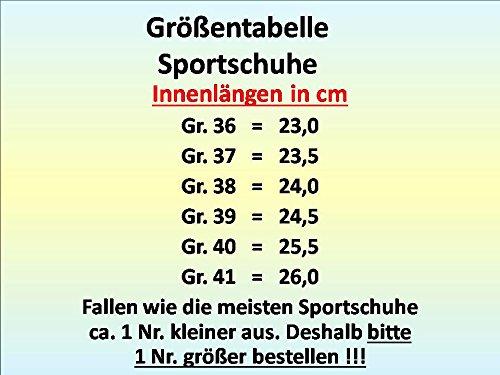 gibra, Sneaker donna Schwarz/Weiß
