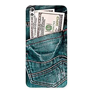Gorgeous Dollars Jeans Back Case Cover for HTC Desire 816