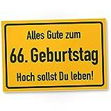 DankeDir! 66. Geburtstag Stadtschild - PVC Schild, Geschenk 66. Geburtstag, Geschenkidee Geburtstagsgeschenk Zum Sechsundsechzigsten, Geburtstagsdeko/Partydeko/Party Zubehör/Geburtstagskarte