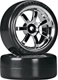 HPI 4739 T-Drift Tire 26mm Rays 57S-Pro Wheel Chrome (2) by HPI Racing