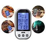 Best Digital Meat Thermometer Wirelesses - galaksy Programmable Wireless Remote Digital Thermometer Probe Meat Review