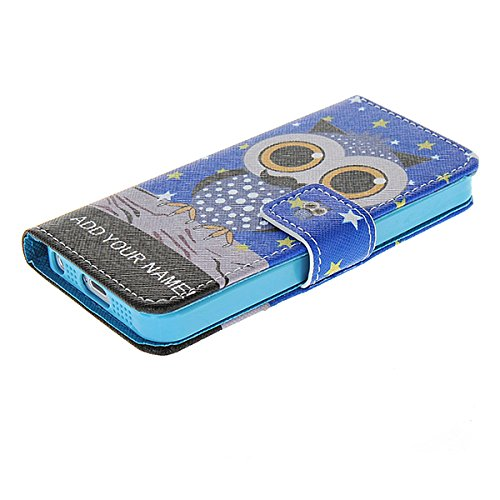 iPhone 55S Fall, coolke [Eule] Schöne Cartoon Pattern Wallet Flip Cover Folio Schutzhülle für Apple iPhone 55S, 007, iPone 5/5S 007