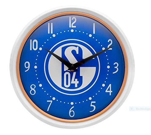 1. FC Schalke 04 *** Wanduhr *** weiß/königsblau 10583