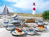 Friesland Kaffee-Set 18tlg. Jeverland Strand-Linie