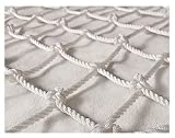 Rete Di Corda,Rete Fune Protettiva Giardino Decorazione Cargo Rimorchi Luggage Storage Recinzione Rete,per le Piante Arrampicata Rampicanti Balcone Giardino Ringhiera Scale Rope Net,Puro Poliestere