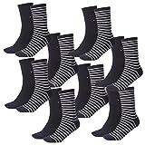 Tommy Hilfiger Damen Socken Small Stripe Casual Socken 8er Pack, Größe:39-42, Farbe:Midnight Blue (563)