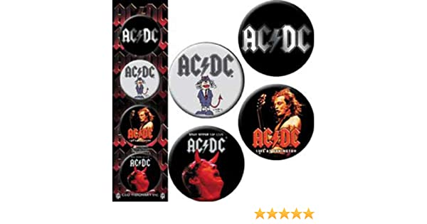 Officially Licensed Products Classic Rock Assorted gemischtArtwork AC//DC 4 Pieces 4 Pieces Assorted gemischtLogo Button Taste Set Button Taste Set Button Taste Set 1.25 Each jeder