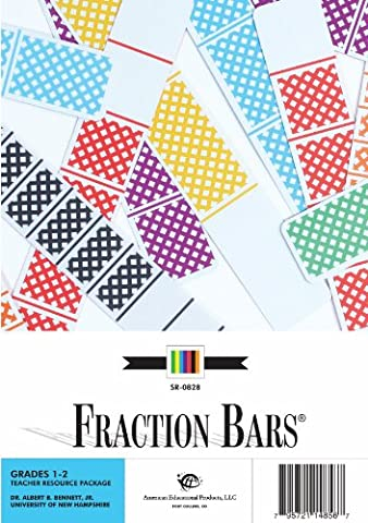 American Educational Fraction Bar Guide For Elementary, Grades 1-2