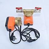 ZIRKULATIONSPUMPE CPI15-15 mit Rotorwelle aus Keramik, Anschlüsse 1/2 Zoll, Gehäuse aus Messeing + 2 Stück Kugelhähne DN 1/2 Zoll.