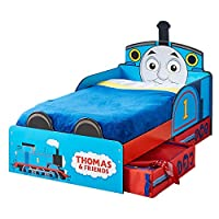 Thomas the Tank Engine Toddler Bed with Storage + Fully Sprung Mattress