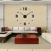 DIY adesivi della parete 3D Orologio da parete te adattano alla decorazione creativa moderna (1)