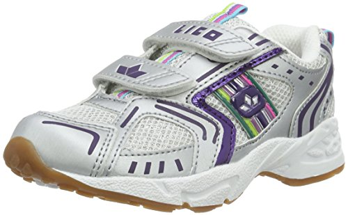 Lico Silverstar V, Chaussures de Fitness Fille Blanc (Weiss/silber/lila)