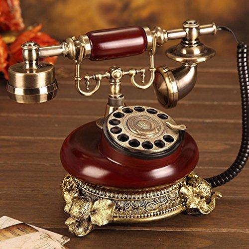 HBWJSH Rotierendes antikes Festnetz des kontinentalen Telefons des Telefons Retro- Telefonmode kreatives Telefon