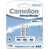 Camelion HR03 Micro AAA AlwaysReady Lot de 2 800mAh