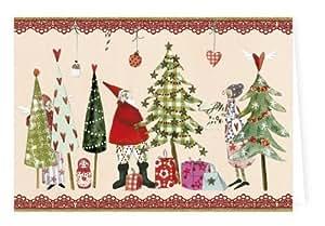 Weihnachtskarten set von silke leffler 6 klappkarten mit umschlag b robedarf - Weihnachtskarten amazon ...