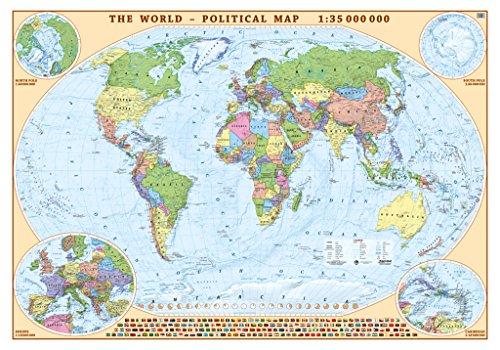eko-graf-world-political-pinboard-map-with-world-flags-100cm-x-70cm-in-brown-aluminium-frame