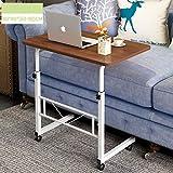 WETERS Sofa Beistelltisch tragbaren Laptop-Schreibtisch Schreibtisch können Mobile Schreiben faul Tisch Heben(Wilde Eiche)