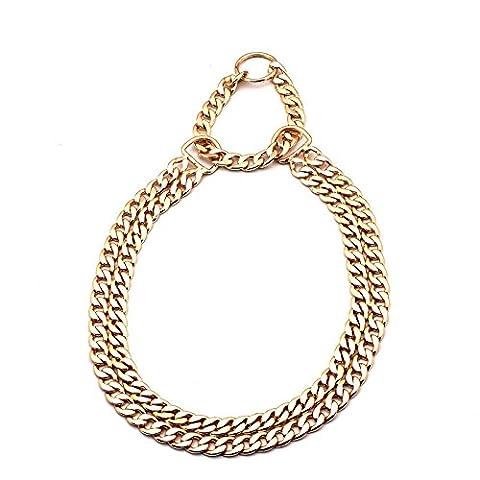 solide en acier inoxydable Chaîne serpent en métal Collier Colliers Collier de dressage de chien pour animal domestique Tour de cou Corde