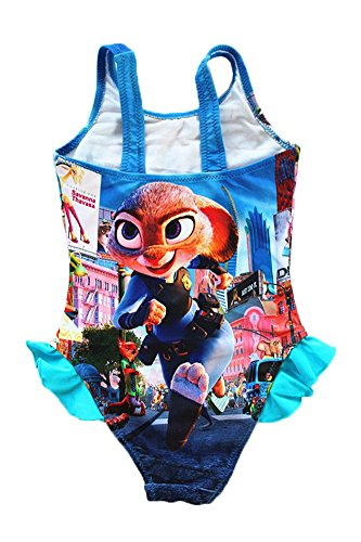 UK SELLER Zootropolis Zootopia Judy Nick Swimming Costume Girls Swimwear Swimsuit 3-9 Years Style 3