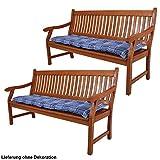 Set di 2 rilievi della sede sede della sedia in tessuto balcone cuscino pad plaid