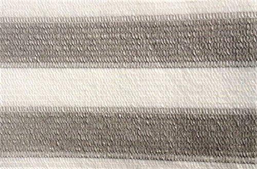 AGROFLOR filet brise vue pour le balcon ou la terrasse, avec bords renforcés etœillets toutes les 50 cm, 100% résistant aux UV, couleur: gris/blanc, Taille: 0,75 x 25 m