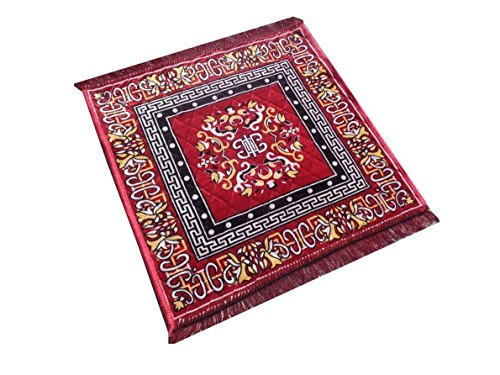 RajasthaniKart Maroon Pooja Aasan, Mat (2 Ft X 2 Ft)  available at amazon for Rs.119