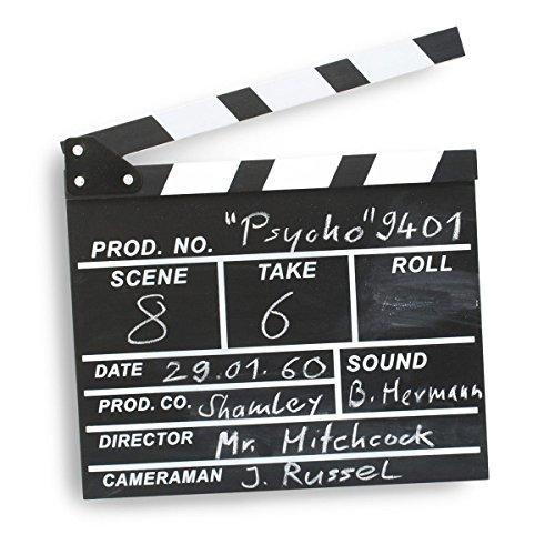 Goods & Gadgets Filmklappe Regisseurklappe XXL - Hollywood Deko Regie Film Klappe Kreidetafel Requisite