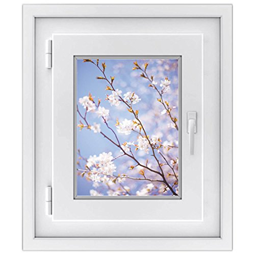 Premium Fensterfolie | selbsthaftendes Fensterbild - Hochwertige Fensterdekoration | Fenstersticker - Dekorative Fenstergestaltung - Do it Yourself | Fensterfolie 30 x 40 cm - Motiv Apple Blossoms