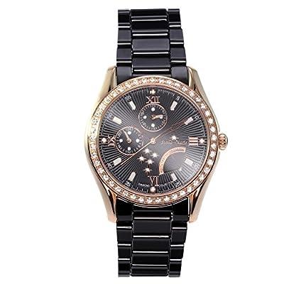 Stella Maris - STM15M6 - wrist watch for women - quartz movement analog display - black dial - black ceramic bracelet