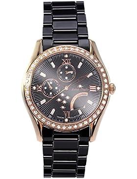 Stella Maris Damen-Armbanduhr Analog Quarz Premium Keramik Diamanten - STM15M6