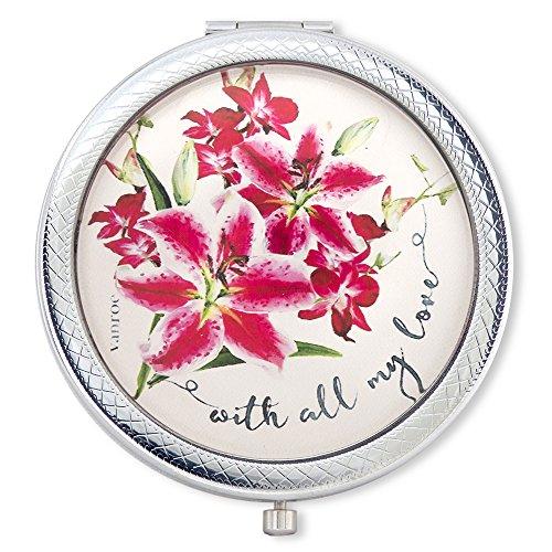 Vanroe mit All My Love 'Luxury Compact Spiegel mit Stargazer Lily & Orchid Bouquet–Geschenk-Box, Jahrestag Geschenk Idee, vergrößert (Kompakte True Auge)