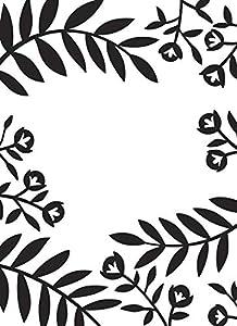 Darice Carpeta de Estampación A6, Plantilla Flores y Hojas