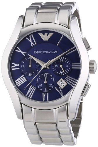 Emporio Armani AR1635 Reloj de Cuarzo, para Hombre, Correa de Acero Inoxidable, Plateado