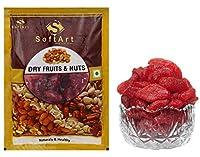 SoftArt 100% Natural Fresh Dried Strawberry Candy (200 Gram)