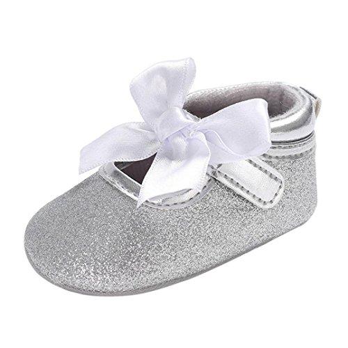 cinnamou Prinzessin Ballett Schuhe Baby-beiläufige einzelne Schuhe Soft Sole Krippe Schuhe - Anti-Rutsch-Wanderer Prewalker 0-6 Monat 6-12 Monat 12-18 Monat