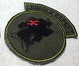 YWJHY Vietnamkrieg US Army Special Forces Dschungel-Stickerei-Tasche,Grün,Einheitsgröße