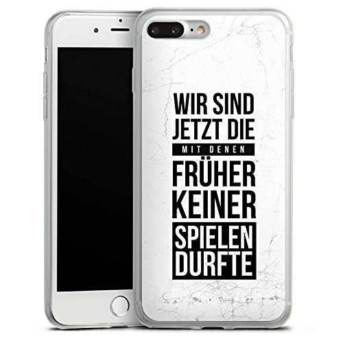 Apple iPhone X Slim Case Silikon Hülle Schutzhülle Humor Spaß Sprüche Silikon Slim Case transparent