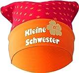 Baby KOPFTUCH Mütze (Farbe rot-orange) (Gr. 1 (56-74) Kleine Schwester/FAT
