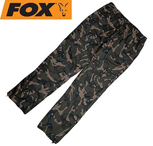 Fox Chunk Camo 10k Lightweight RS Trousers - Regenhose zum Angeln, Angelhose für Angler, Hose für Karpfenangler & Wallerangler, Größe:XXXL