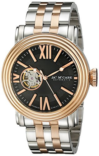 James McCabe Men's JM-1018-44 Victory Analog Display Japanese Automatic Two Tone Watch