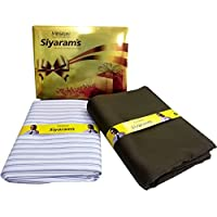 Siyaram's Men's Synthetic Shirt and Trouser Unstitched Fabric (Multicolour, Free Size)