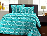 Bombay Dyeing Garnet 144TC Cotton Double Bedsheet With 2 Pillow Covers-Blue